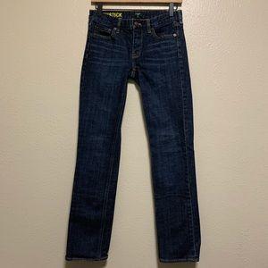 J Crew dark wash matchstick straight leg jeans